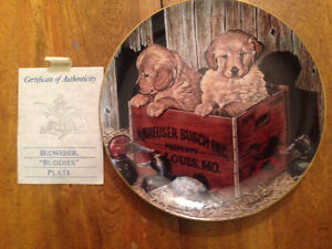 "Budweiser Buddies 9"" Collector Plate"
