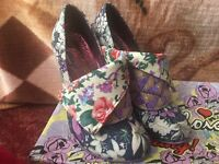 Irregular Choice Floral Flick Flack Shoes (Mutiny)