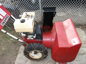 "8hp 26"" Snapper snowblower"