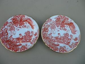 Royal Crown Derby Red Aves Plates $100 Each.