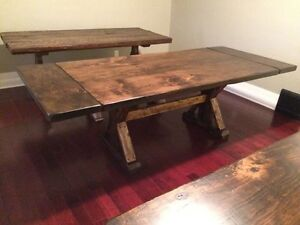 Reclaimed rustic, custom furniture, tables benches. Doors Cambridge Kitchener Area image 6