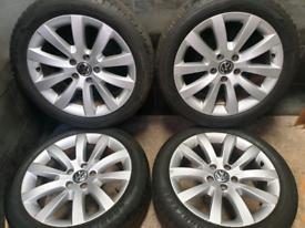 17 inch 5x112 genuine Volkswagen alloy wheels