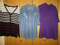 Size 2x Sweater and 2 Blouses