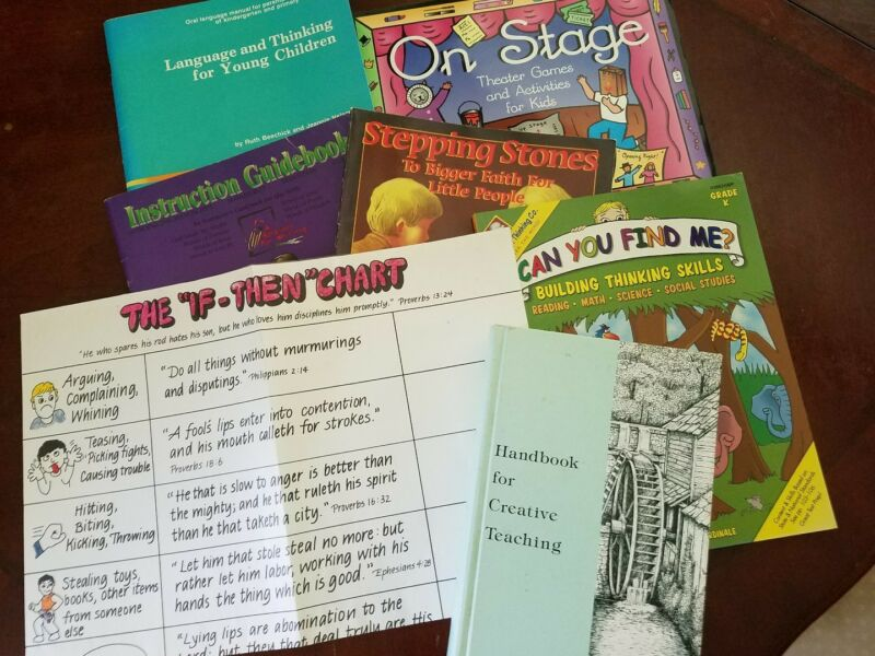 K-3 Elementary Homeschool Lot ~ Devotions, Writing, Theater, Language & Thinking