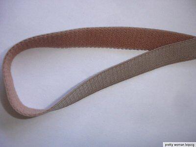 10m Gummiband 0,24€/m hellbraun Trägerband 10mm breit  EE5