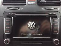VW GOLF RNS510 SATNAV W/CODE & GPS AERIAL