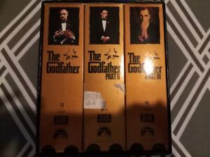 THE GODFATHER VHS SET