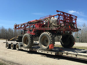 Sprayer tractor air drill equipment hauling moving towing