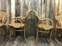 Vintage café style dining table and chairs