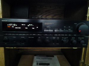 DENON AM/FM STEREO RECEIVER AND   PLAYER