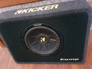 Kicker subwoofer and connection