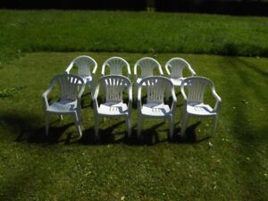 8 – OUTDOOR RESIN PATIO CHAIRS – ALL for ONE PRICE!