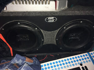 Competition polkaudio subs with 1000watt Sony amp
