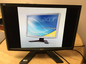 "Acer X193W Black 19""  Widescreen LCD Monitor"