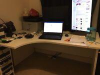 Ergonomic Work Desk/Left Hand Corner/made in UK