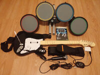**WOW** Rock Band Bundle comme neuf PAS CHER