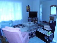 three bedroom furnished and clean available now