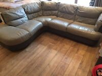 DFS leather corner sofa in excellent condition // free delivery