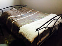 Double bed with decorative head & foot board