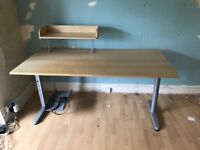 Ikea desk with removable shelf, desktop pc holder and cable tidy