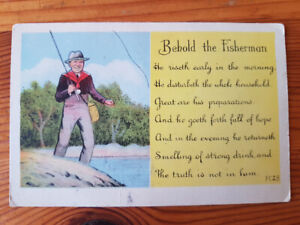 """""""Behold the Fisherman"""" - Vintage Post Card"""