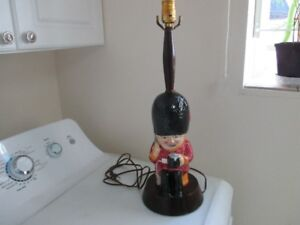 Vintage Shorter & Son Table Lamp Guardsman England RARE