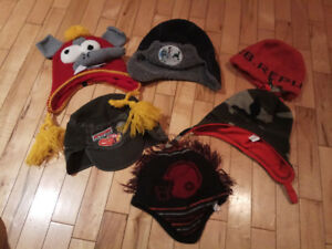 6 winter hats for tollder boys size 2-4
