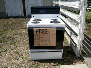 **Free**     White Westinghouse Electric Oven
