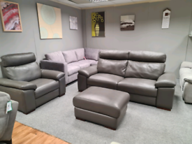 Brand new Italian leather 3 seater +Armchair +Footstool