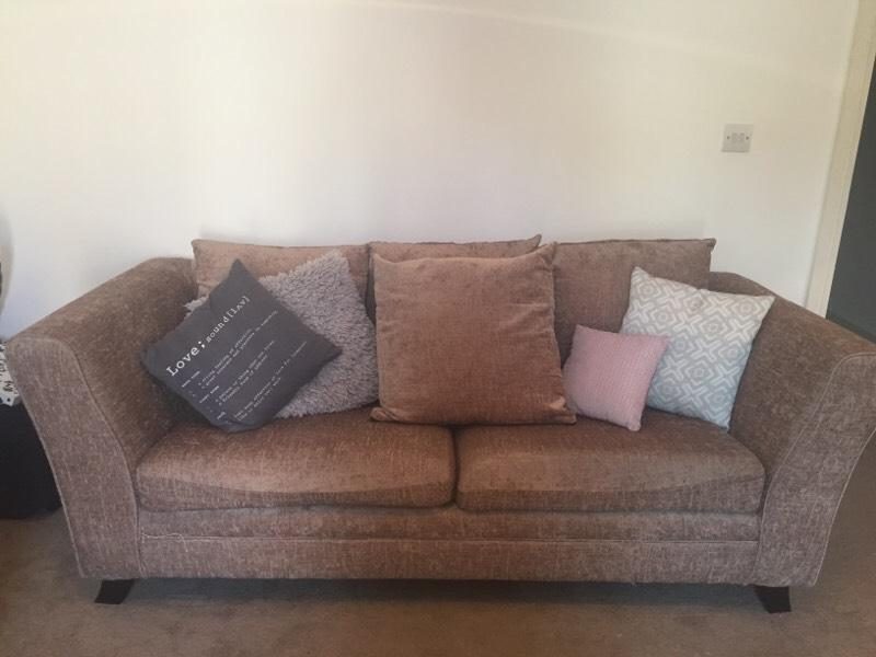 3 Seater Sofa Mink In Liverpool City Centre Merseyside