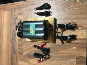 Motorcycle stands and battery tender