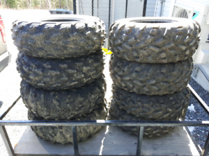 "2 sets of 25"" atv tires"