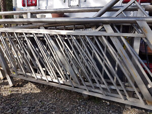 7 Custom Stainless steel stair rails and panels