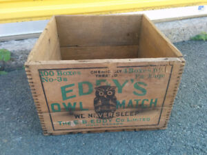 Wooden Tongue & Groove Box - Eddy's Owl Match