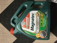 NEW CASTROL MAGNATEC 5w-30 FULLY SYNTHETIC OIL