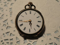 Rare Vintage Galonne .800 Silver Open Face Pocket Watch Swiss