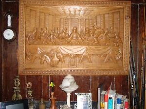 Carving of the last supper