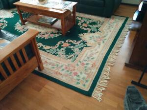 """Vintage Wool Area Rug 7'6"""" x 10'6"""""""