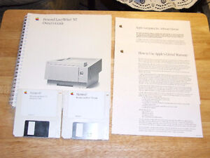 Apple Personal LaserWriter NT Owners Guide & Install Disc's $10