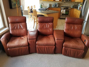 3 Seat Electric Reclining Media Centre