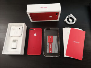 iPhone 7 Plus (128gb) Red Special - New Condition + Accessories