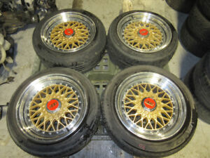 195/55/16 & 195/50/16 BBS STAGGERED 4X114.3 TWO PIECES JDM