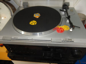 Aka turntable, Sony Receiver and disc player