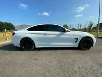 BMW 420i MSPORT 2 DOOR COUPE 2014 63 REG 55,000 MILES ALPINE WHITE BLACK LEATHER
