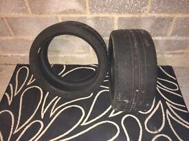 2 Bridgestone Potenza S001 245/35R18 partially worn run flat tyres for sale