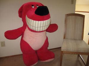 Large Stuffed Pink Dog