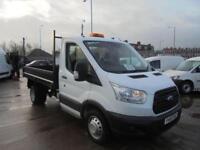 Ford Transit 350 L2 SINGLE CAB TIPPER 100PS EURO 5 DIESEL MANUAL WHITE (2015)