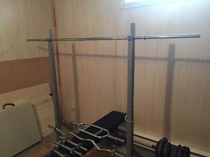 Bech press ajustable (squat) - Beaucoup d'accesoires Gatineau Ottawa / Gatineau Area image 5