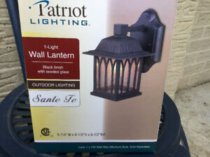 One Outdoor Wall Lantern