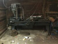 Big engine lathe and metal shaper
